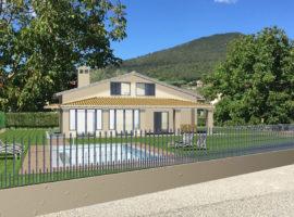 Villa adicente lago